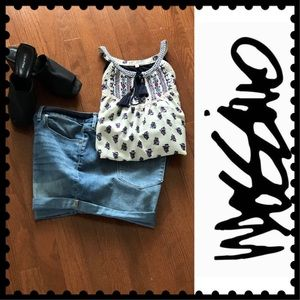 🆕🌟MOSSIMO HIGH RISE CUFFED MIDI JEAN SHORTS